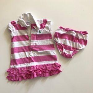 Ralph Lauren dress with bottoms sz: 9 mos